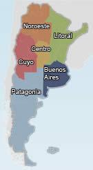 Mapa de Regiones Argentina