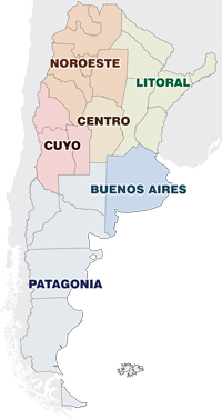 Resultado de imagen para mapa litoral argentino